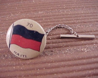 CLOSEOUT Haiti Flag Tie Tack - Free Shipping to USA