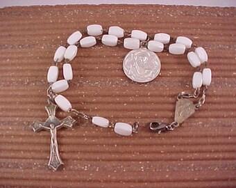 Glass Bead Vintage Rosary Bracelet