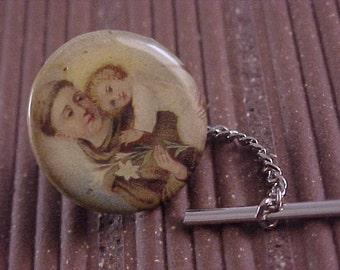 CLOSEOUT Tie Tack - Color Religious Pinback - Free Shipping to USA