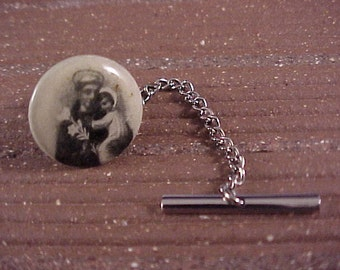 SALE Tie Tack - Vintage Religious Pinback Button - Free Shipping to USA