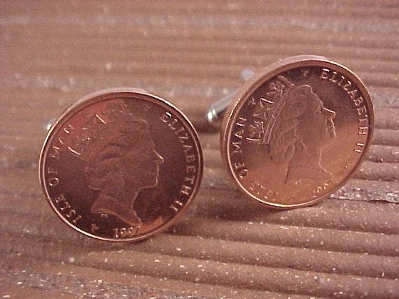 Isle of Man Coin Cuff Links