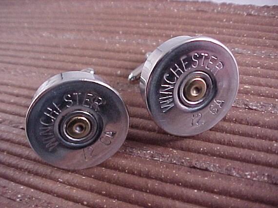 Bullet Cuff Links Winchester 12 Gauge Shotgun Shell
