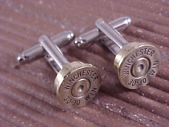 Bullet Cuff Links Winchester 30-30 Rifle