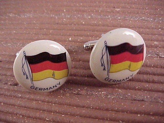CLOSEOUT Cuff Links Vintage Germany Flag - Free Shipping to USA