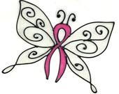 Ribbon Butterfly Glitter Window Cling