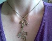 Sacred Oak Leaf Lariat Necklace
