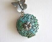 Butterfly, LOCKET, Silver Locket Necklace, Verdigris Jewelry, Butterflies, Scent Locket, Blue, Enchanted Garden, Summer Jewelry, Lockets xxx