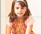 Made to Order, Girls sz 7/8 Peasant Tunic top, choose colors, chic design, comfortable and cute shirt