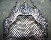 Rare Unusual Gorgeous Victorian Sterling Bag With Neptune Or Poseidon R. Blackinton & Co.