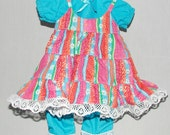 Striped 'n Lacy Jumper Set for 15 or 18 inch Doll