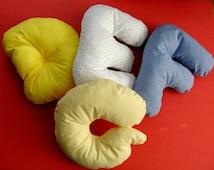 Alphabet Pillows - D - G