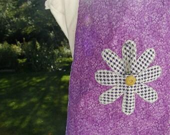 Girl's Reversible Flowered Apron Set
