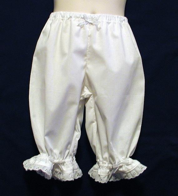 White Lacy Ruffled Pantaloons Girls Size 2 / 3
