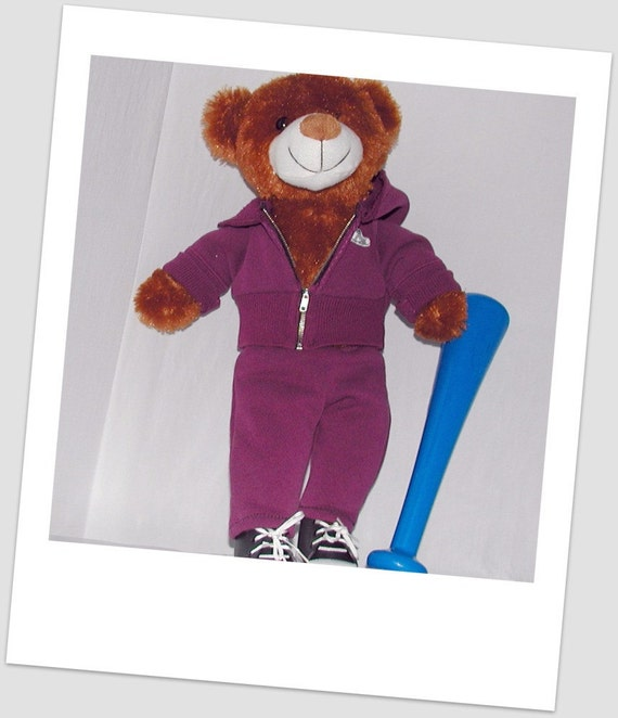 Cranberry Sweatsuit for Bears 'n Dolls