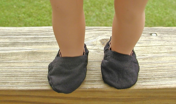 Reversible Tan and Black Doll Shoes