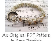 PDF Beading Pattern Tutorial - Skinny Wrapped Peyote Cuff Bracelet - For Personal Use by randomcreative on Etsy
