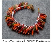 PDF Beading Pattern Tutorial - Dagger Fringed Peyote Cuff Bracelet - For Personal Use by randomcreative on Etsy