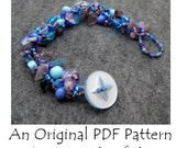 PDF Beading Pattern Tutorial - Rock Garden Beadwoven Beaded Bracelet - For Personal Use by randomcreative on Etsy