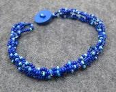 Beaded Bracelet - Midnight Dark Blue by randomcreative on Etsy