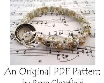 PDF Beading Pattern Tutorial - Skinny Wrapped Peyote Cuff Bracelet - For Personal Use by randomcreative on Etsy