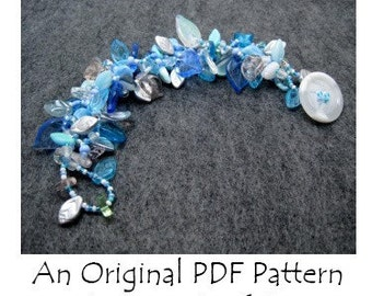 PDF Beading Pattern Tutorial - The Leaf Series Beadwoven Bracelet - For Personal Use by randomcreative on Etsy