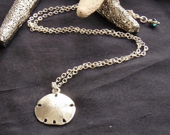 Sand Dollar necklace - sterling silver