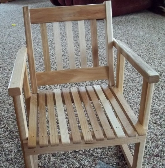 Child size wooden hickory rocker/rocking chair