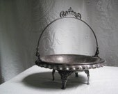 Silver Bridal Basket Exquisite Ornate Antique 19th Century New Amsterdam