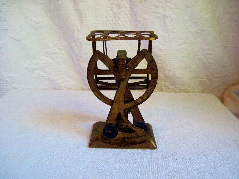 Antique Brass Postal Letter Scale
