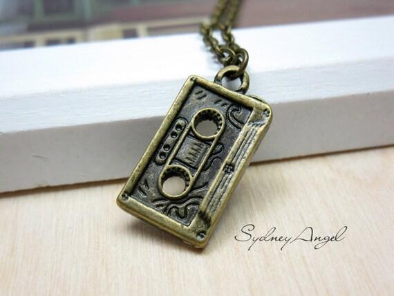 Mixtape Cassette Necklace