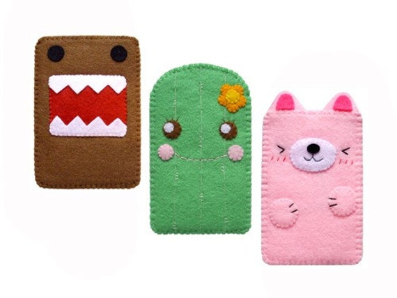 iPod \/ iPhone \/ iTouch \/ Blackberry Case (Penguin, Monkey, Chicken, Domo, Cactus, Pink Bear)