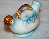 Vintage Germany Bavaria Porcelain Double Shaker Blue Forget Me Nots
