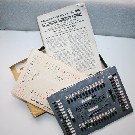 1950s Teach Yourself to Play Bridge Vintage Game