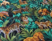 1 YARD Colorful JUNGLE SAFARI Fabric