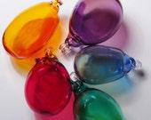 Set of 5 Glass Ornaments