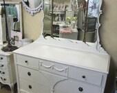 1930's Dresser with 3 Part Mirror