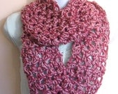 Perfectly Pink Infinity Scarf. Accessories Women Crochet