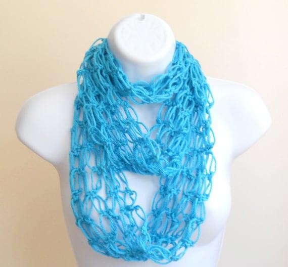 Summer Blues Infinity Scarf Women Accessories crochet