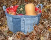 Denim Bushel Peck Made from Upcycled Jeans