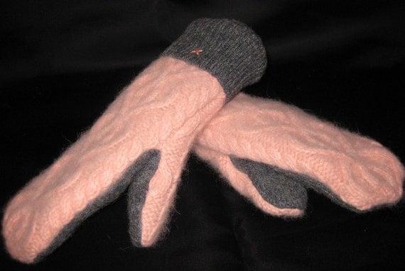 Super Soft Pink Sweater Mittens