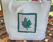 Maple Leaf Canvas Tote Bag