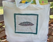 Leaf Canvas Tote Bag