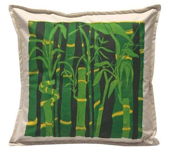 Handprinted Bamboo Pillow Sham