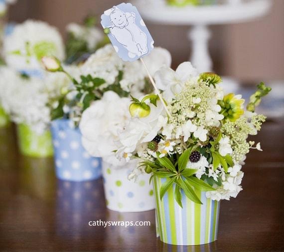 Vanessa s baby shower decorations whimsical vases polka