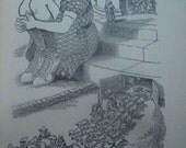 SALE Vintage Child Book Mistress Mashams Repose Fritz Eichenberg Illustrations 1946 1st