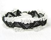 Quartz crystal macrame friendship bracelet - Free Shipping