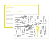 One Yellow Whisk -- Printable Recipe Cards