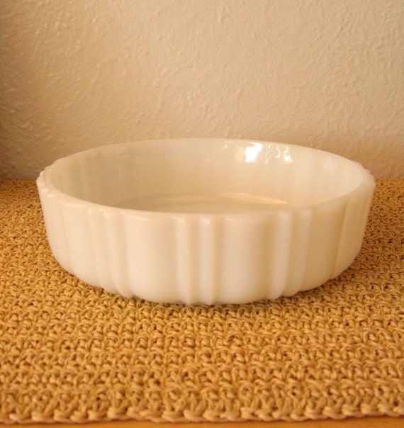 Scalloped Milk Glass Dish