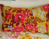 Roses Bouquet Pillow As Gold Joel Dewberry Fabric only one available