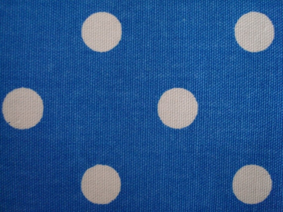 Cotton Upholstery Fabric...PERIWINKLE BLUE and WHITE POLKA DOT, Brought To You By THE DESIGNERS TOUCH